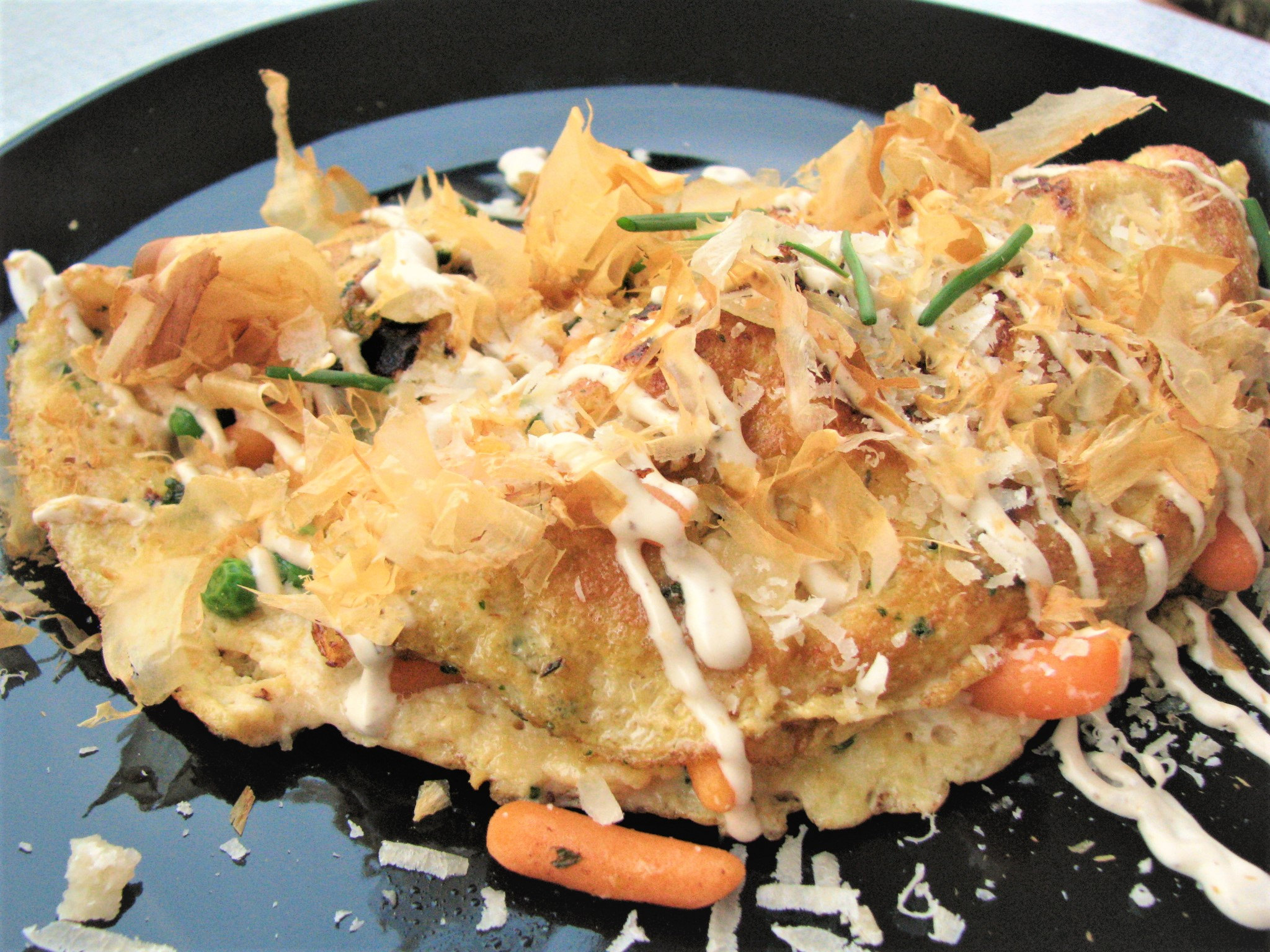 Crab Omelette with Cream of Truffle