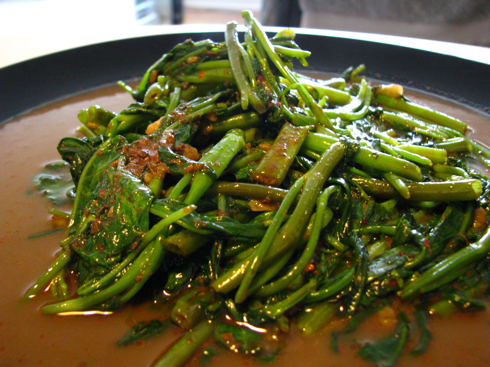 Stir-fried belachan kangkong