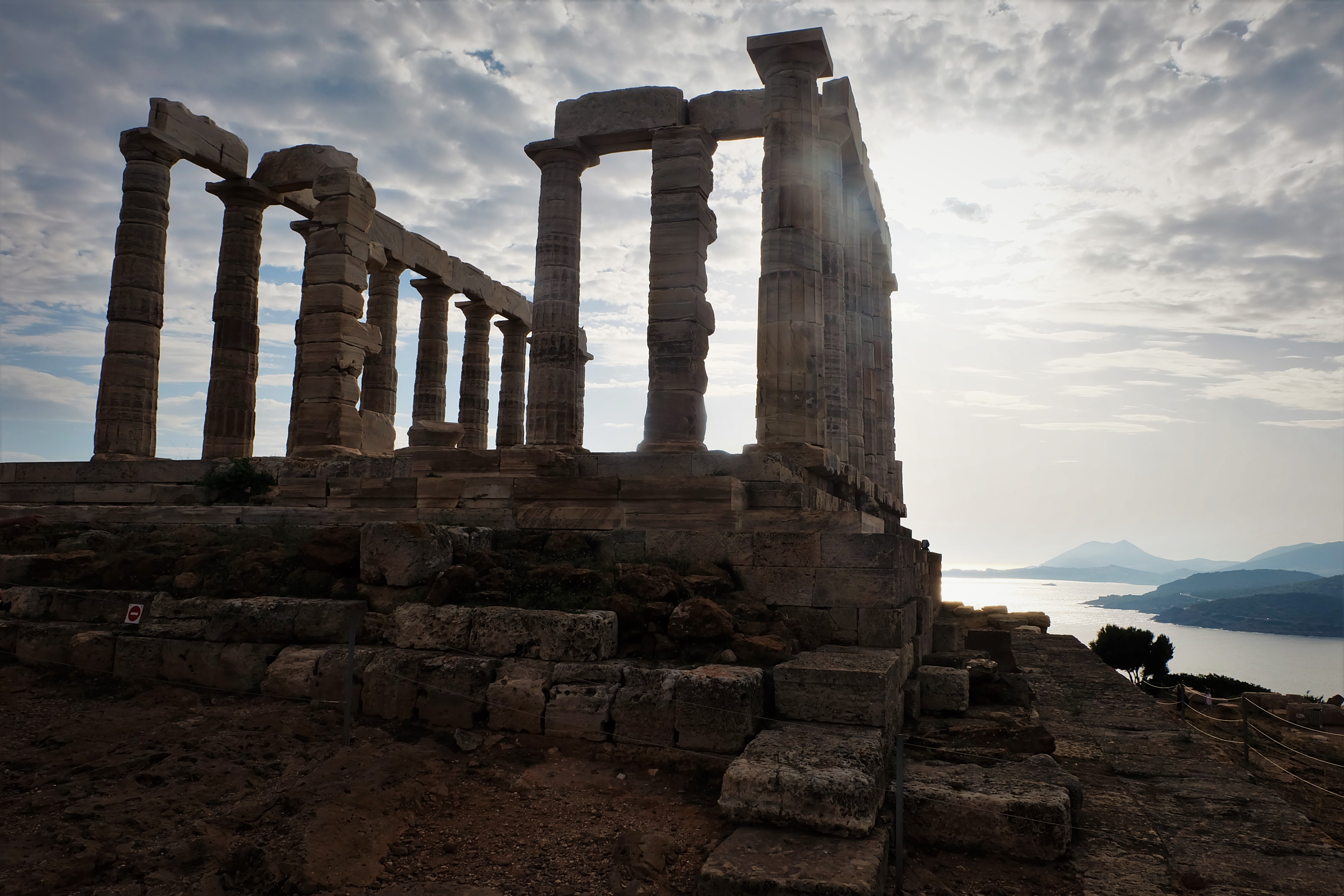 Carry It Like Harry - Watch the sun sets on the Temple of Poseidon at Cape Sounion, Greece
