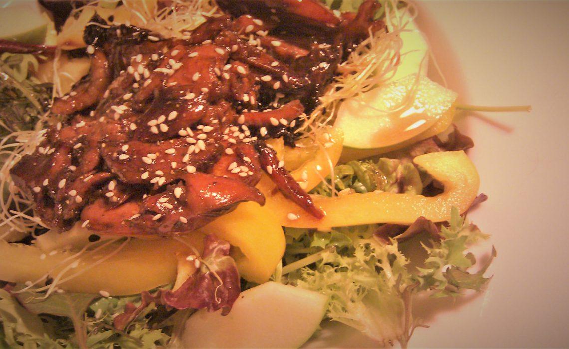 Grilled teriyaki chicken salad