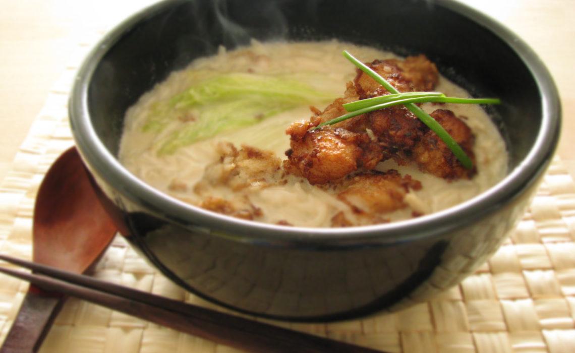 XO Milk Noodles with Fried Fish 炸鱼香奶米粉汤