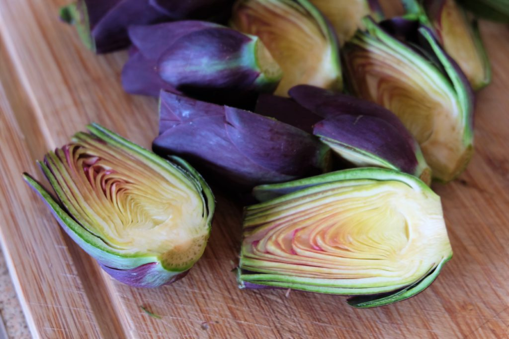 Grilled Garlic and Parmasan Carciofo Violetto