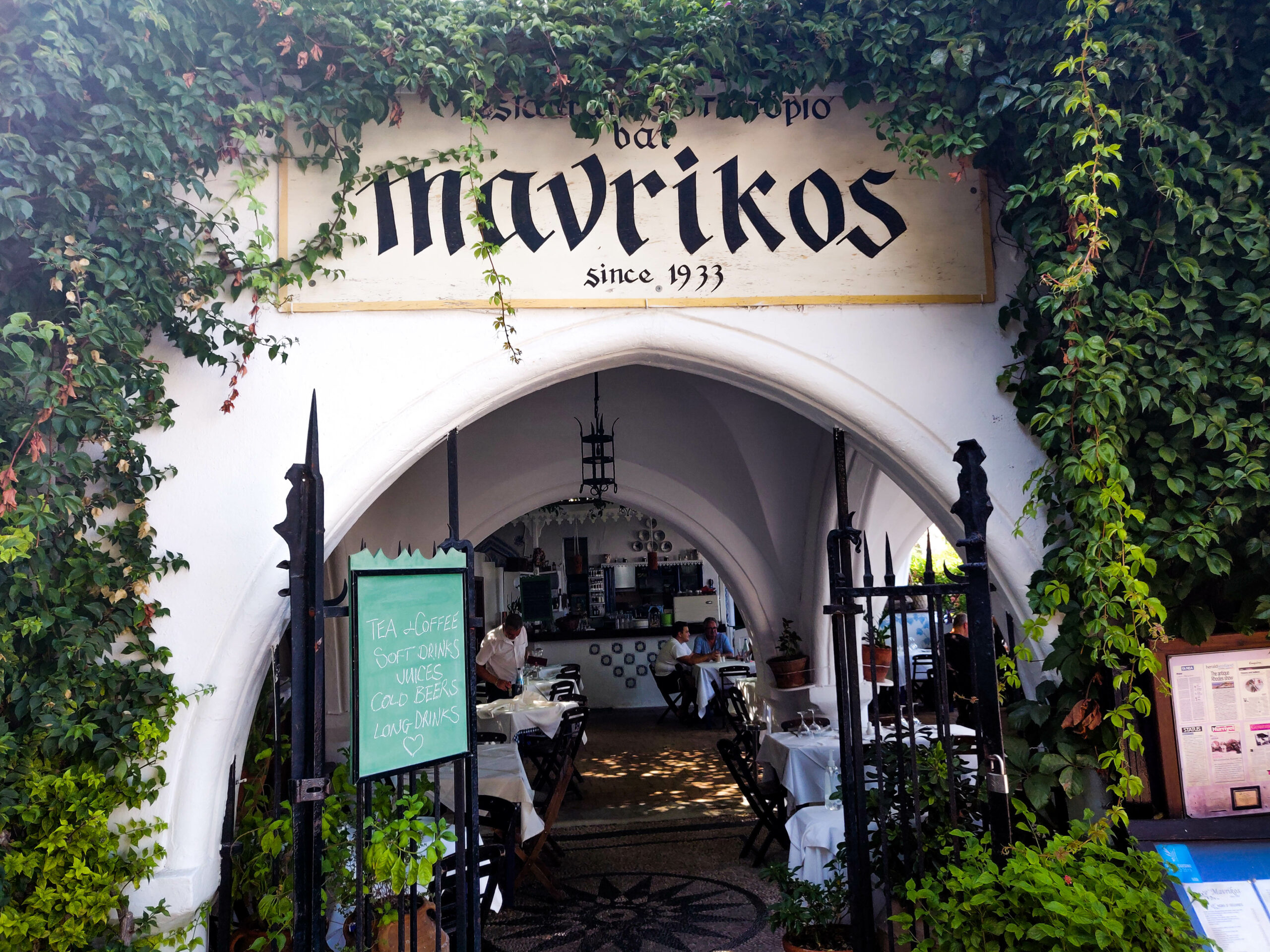 Restaurant Mavrikos in Lindos: Rhodes' Most Renowned Favourite of Hollywood Stars